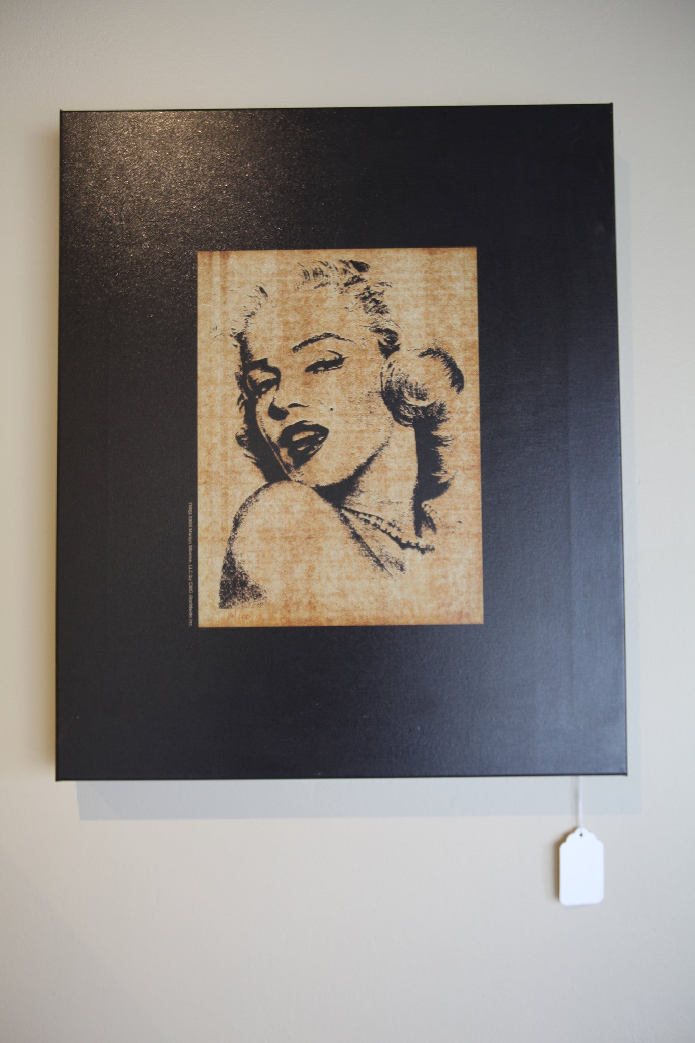 Small Marilyn Mounted Canvas