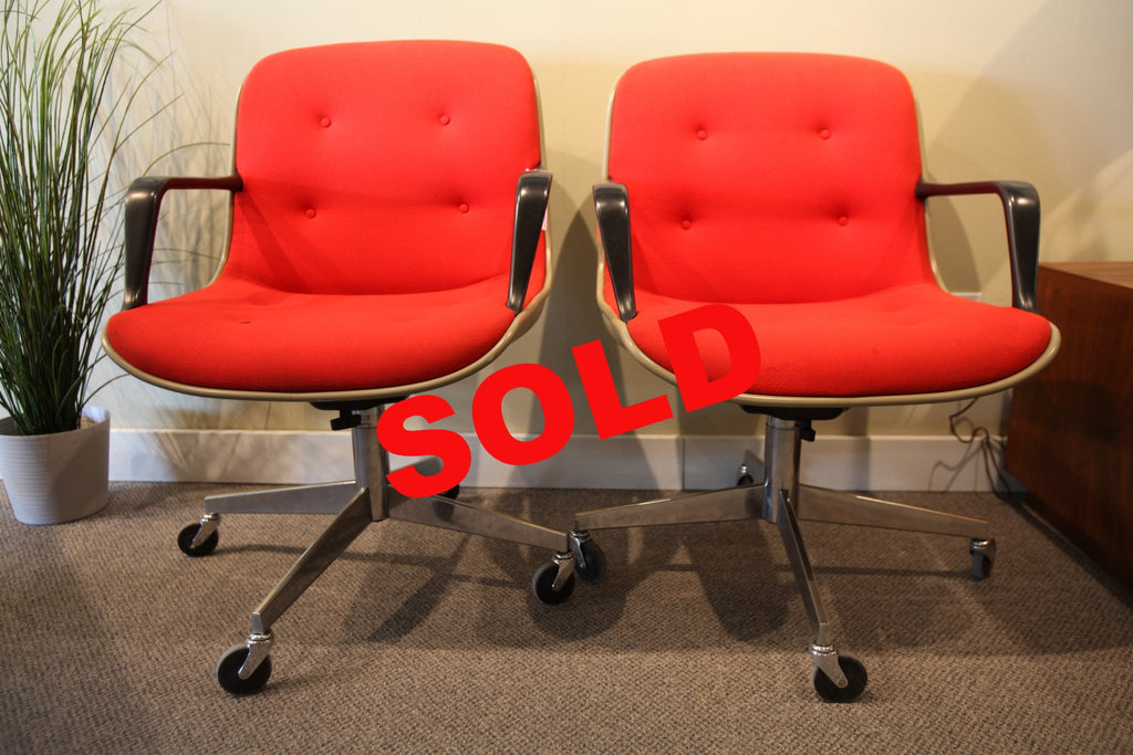 Red Steel case Chairs
