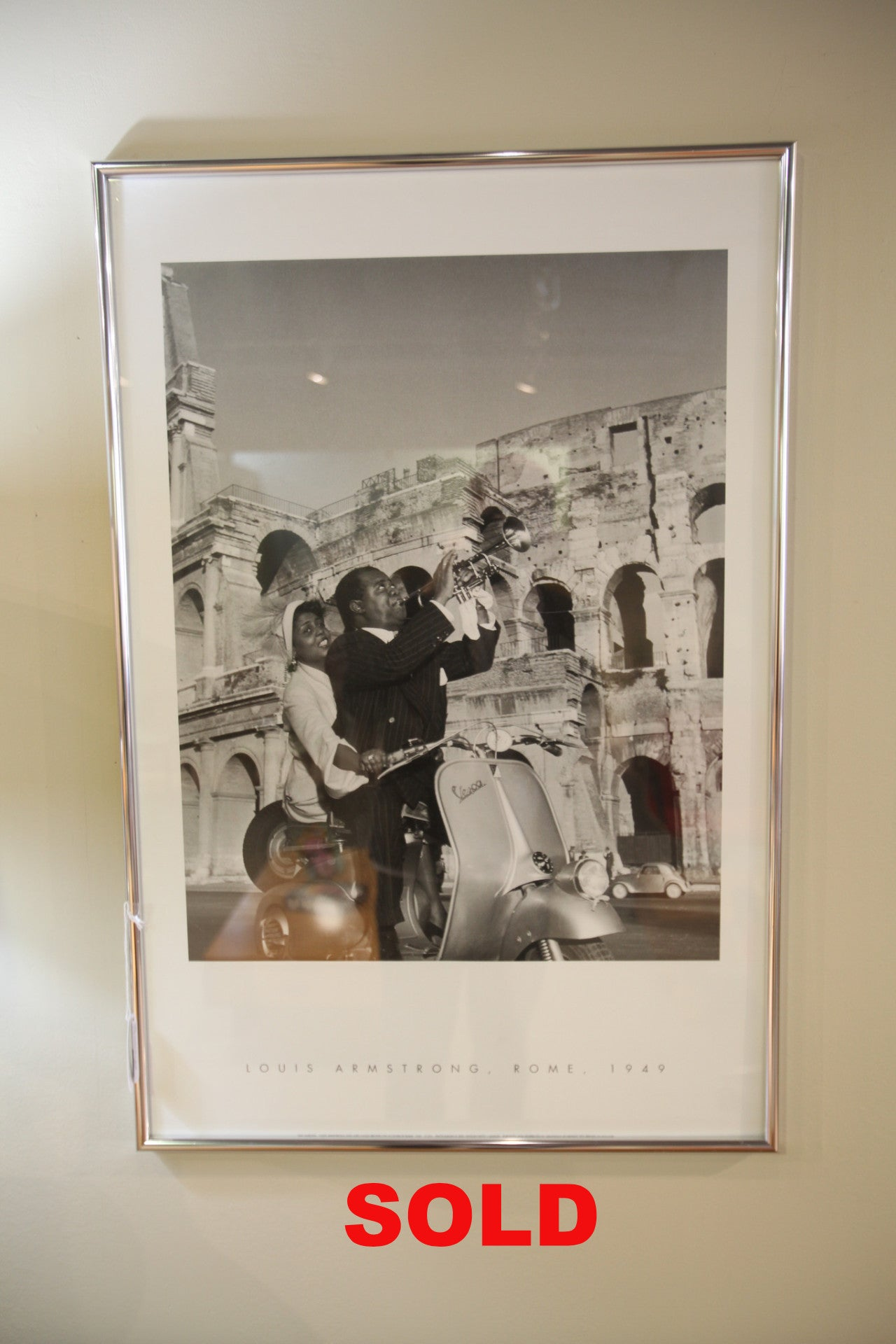 Louie Armstrong in Rome Print