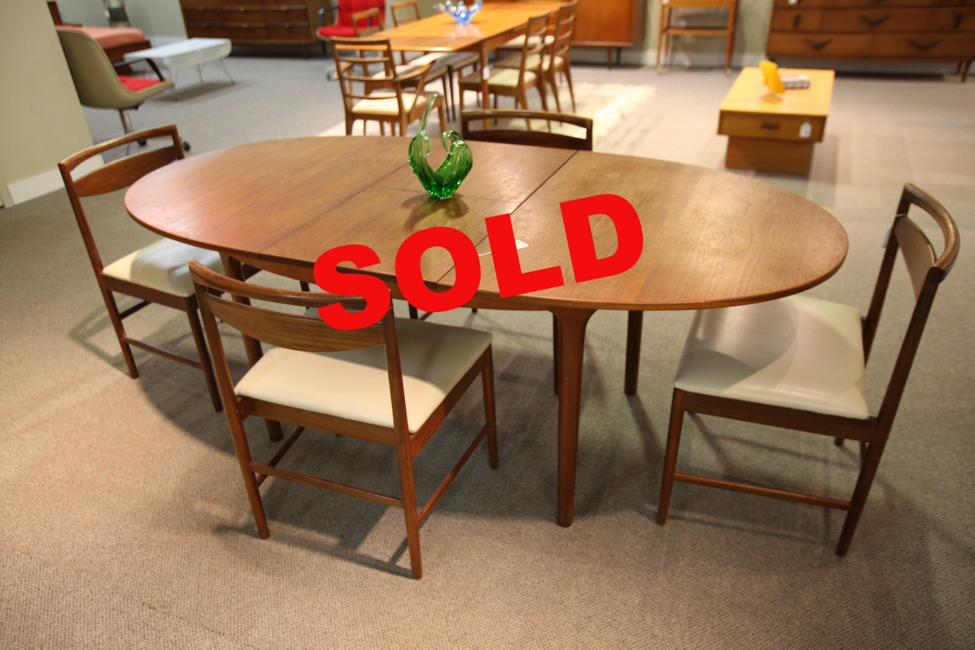 A.H. McIntyre Teak Table and 4 Chairs (Scotland)
