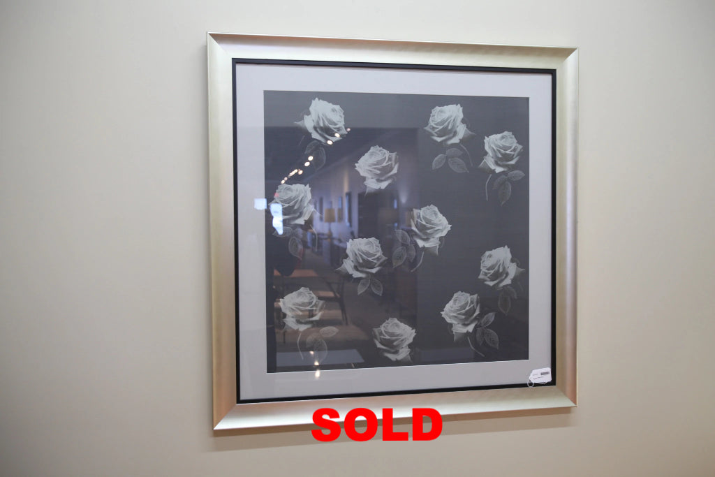 Large Framed Rose Print (42x42)