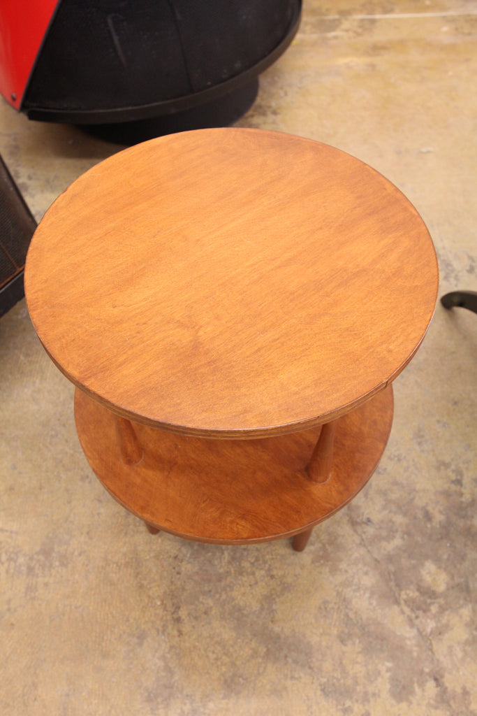"Small Wood Side Table (18"" Dia x 21.5""H)"