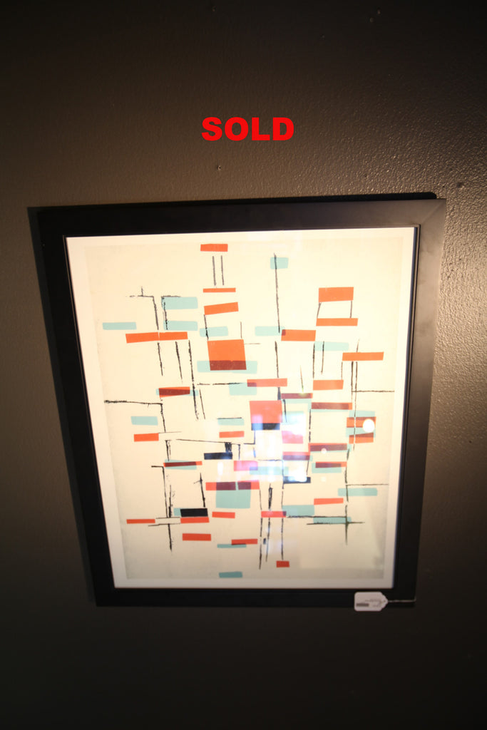 Abstract Mid Century Print