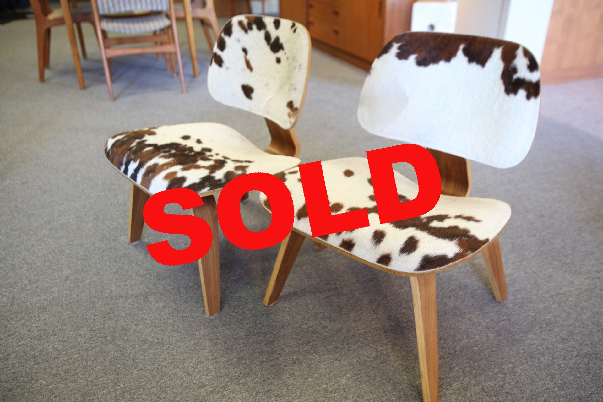 Eames Type Plywood Cow Chair (each)