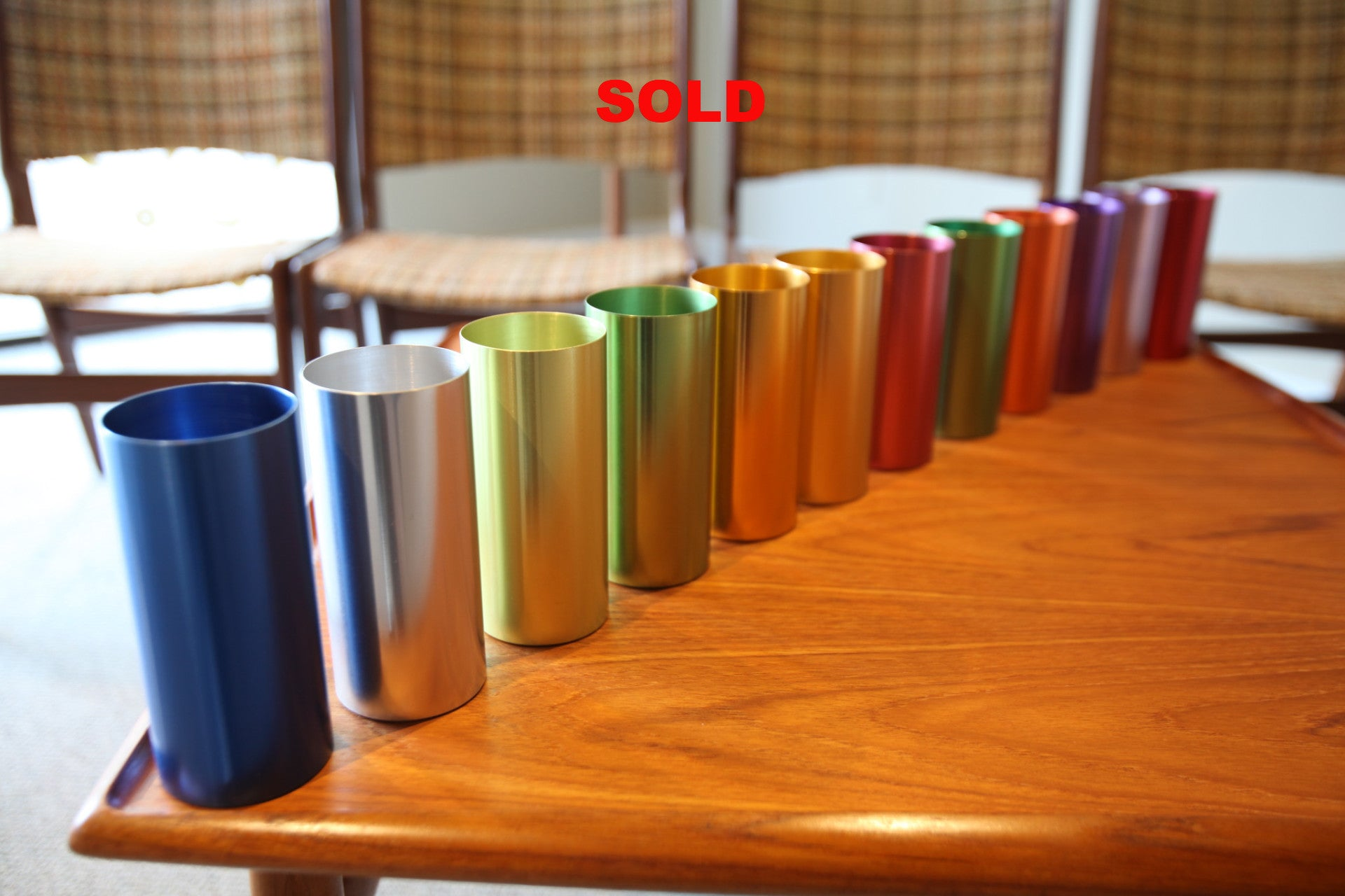 Set of 12 Perma Hues Aluminum Cups