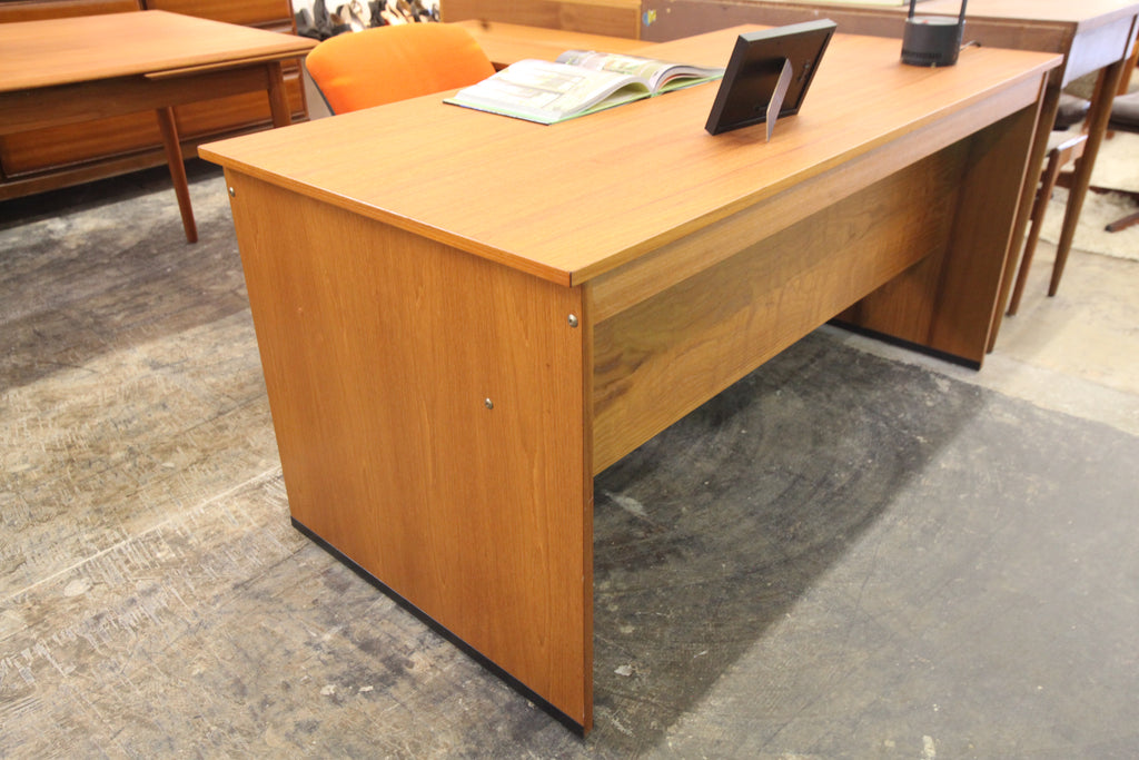 "Vintage Danish Teak ""L"" Shaped Executive Desk by Domino Mobler"