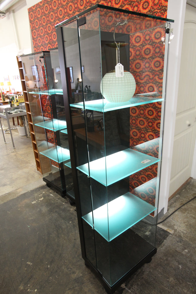 "High Quality Glass Display Cabinet from Scandia (20.25""W x 14.5""D x 69""H)"