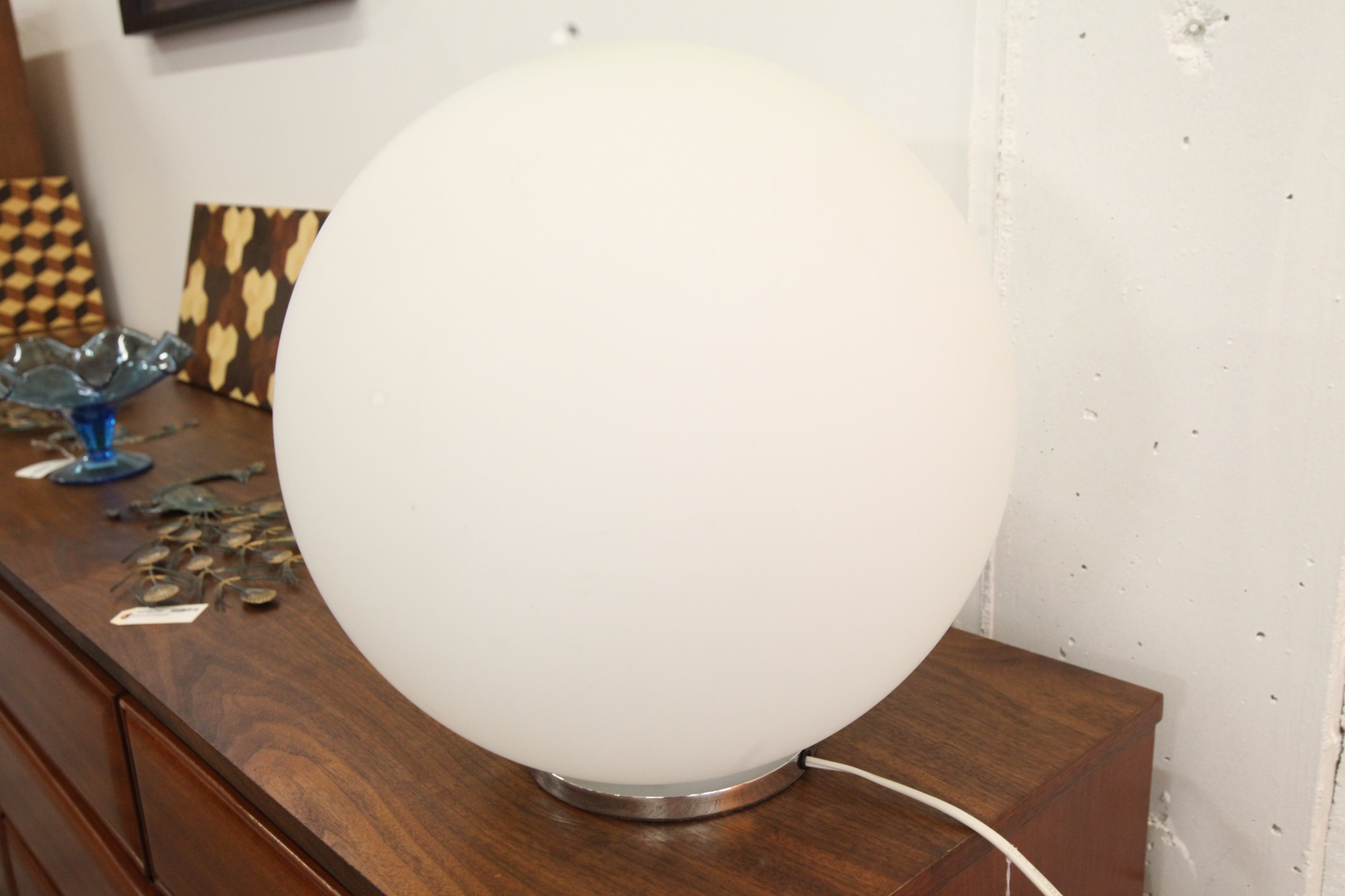 "Glass Ball Table Lamp (Approx 16"" Dia)"