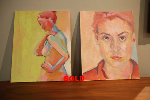 Shana Wilson (Nude Turned & Red) Canvas Board (each)