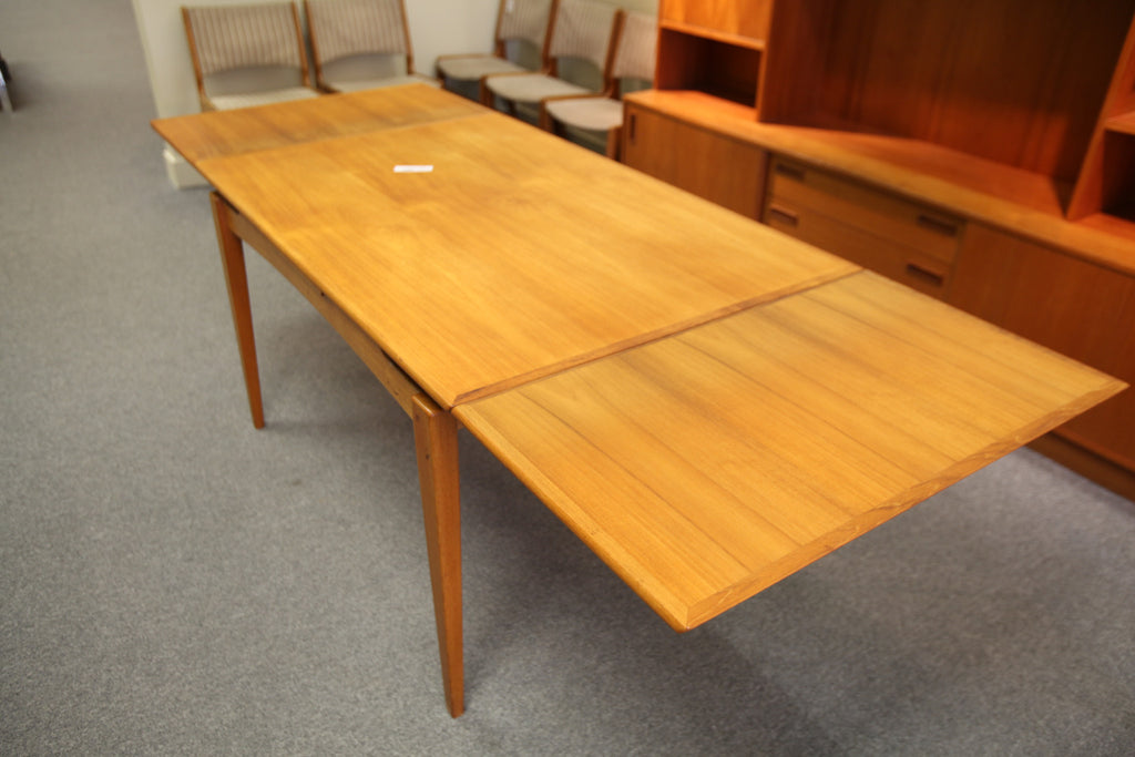 "Danish Teak Extendable Dining Table 34""Wx52""L-90.5""L"