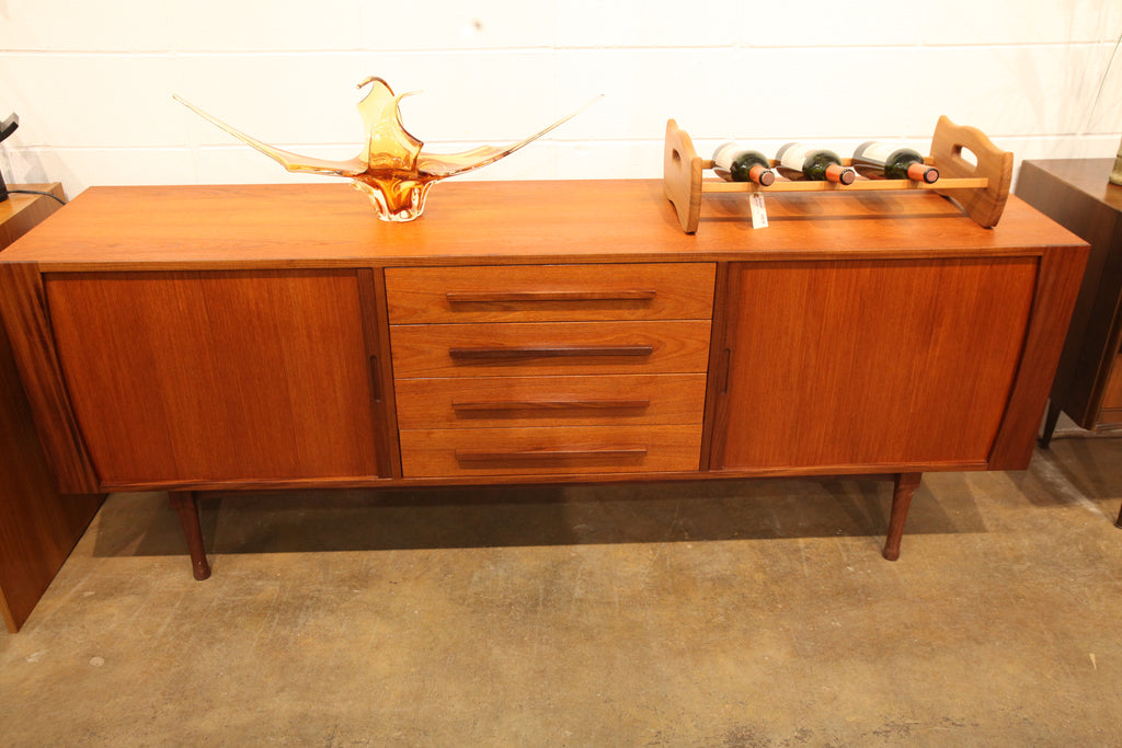"Vintage Teak Sideboard / Credenza by RS Associates (78""W x 18""D x 29.5""H)"