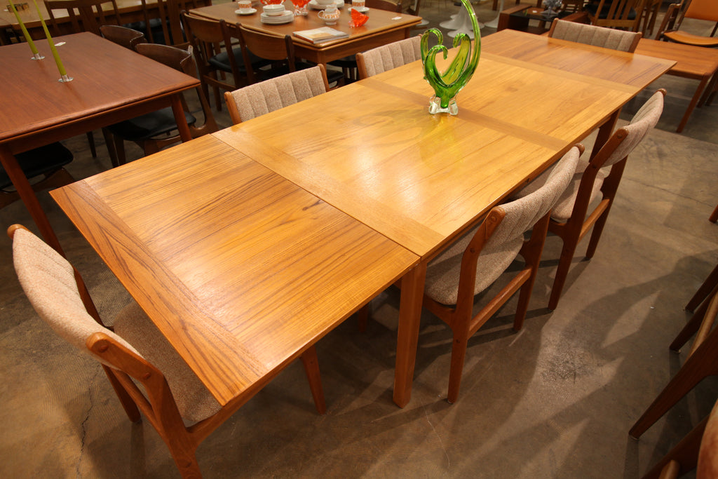 "Vintage Danish Teak Extension Dining Table by BDR Furbo. (96.75""x35.5"")(57""Lx35.5""W)"