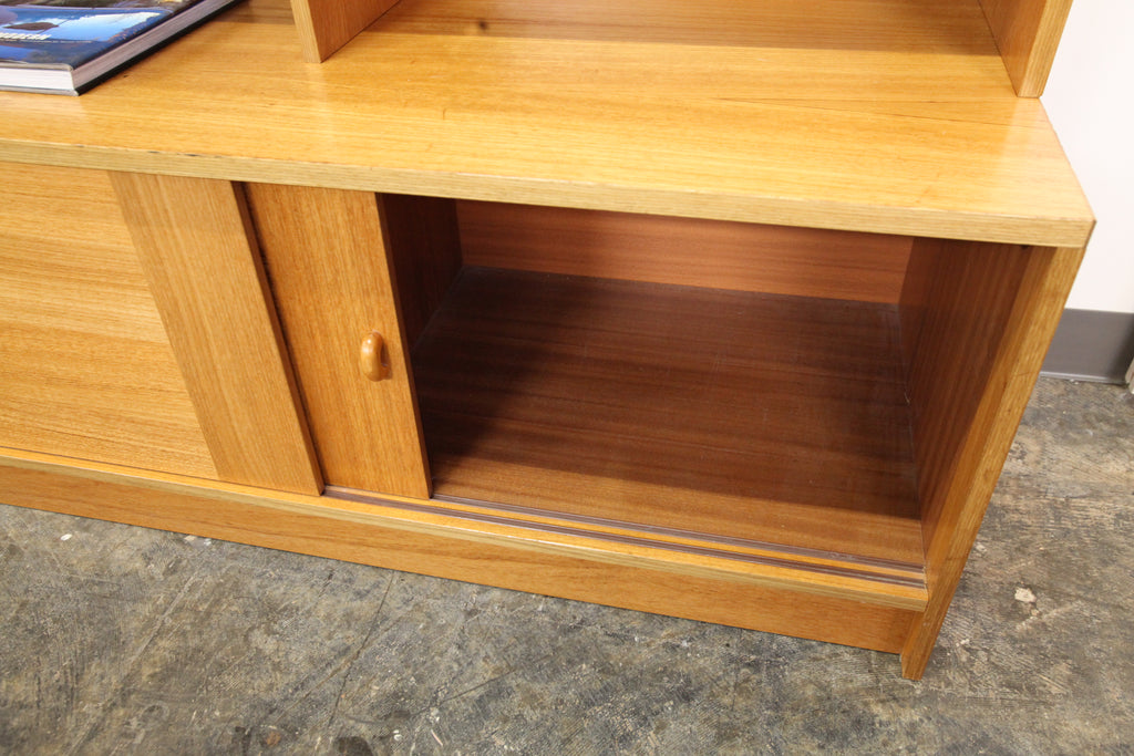 "Vintage Danish Teak Wall Unit / Book Shelf (47.25""W x 19""D x 66.75""H)"