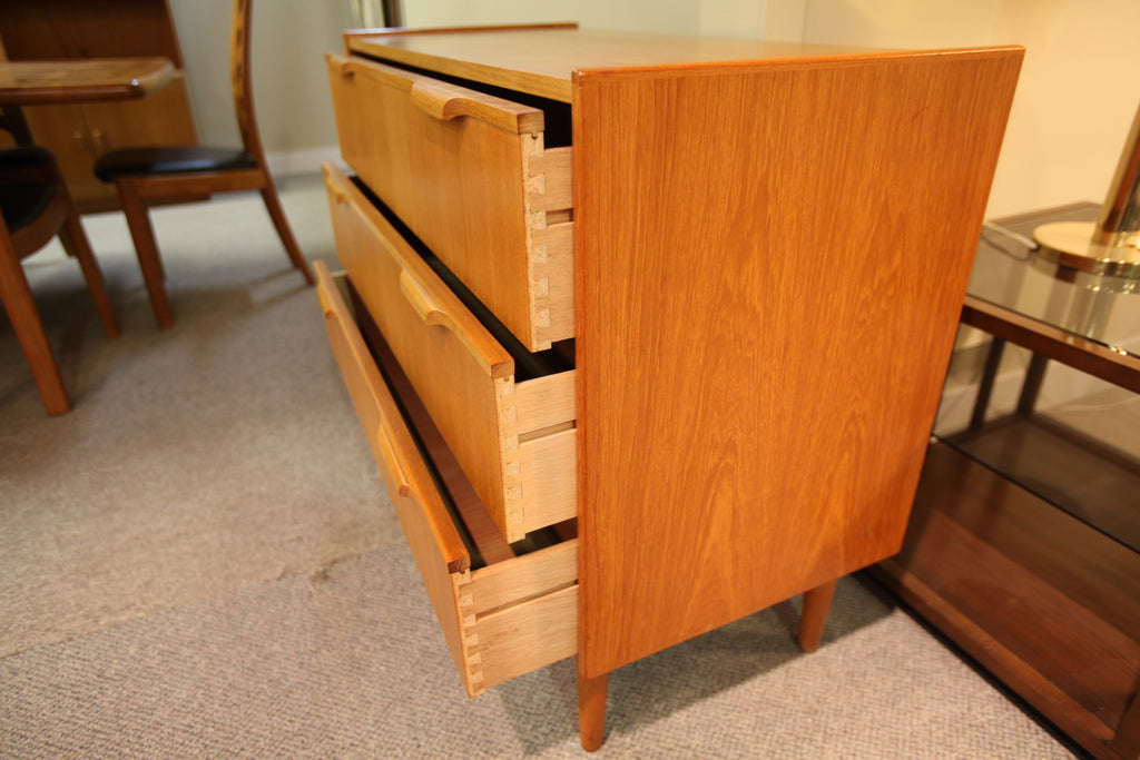 "3 Drawer Danish Dresser (36""x31""x17"")"