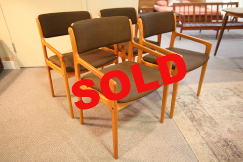 Set of 4 Danish Chairs (need recovering)