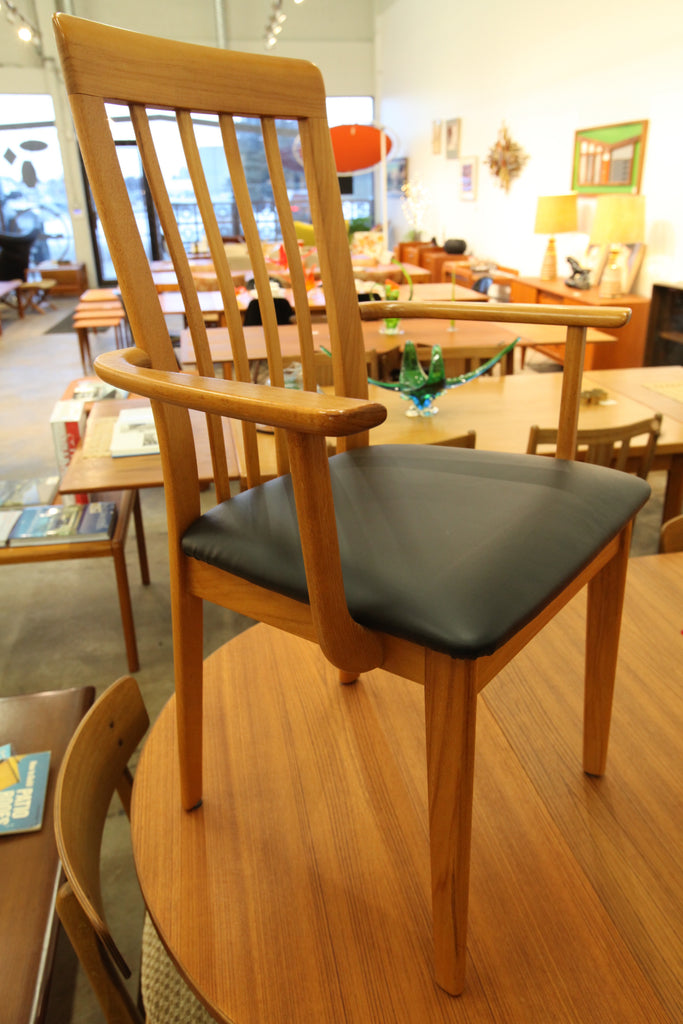 Set of 6 Vintage Teak Dining Chairs w/ 2 arm chairs