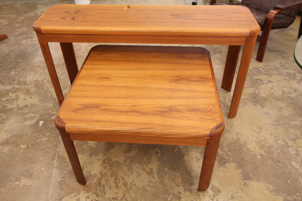 "Vintage Teak Side Table (29.5"" x 29.5"" x 18""H)"
