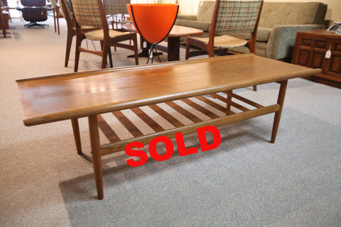 "Teak Surfboard style Coffee Table (59""x21.5""x17.5h)"