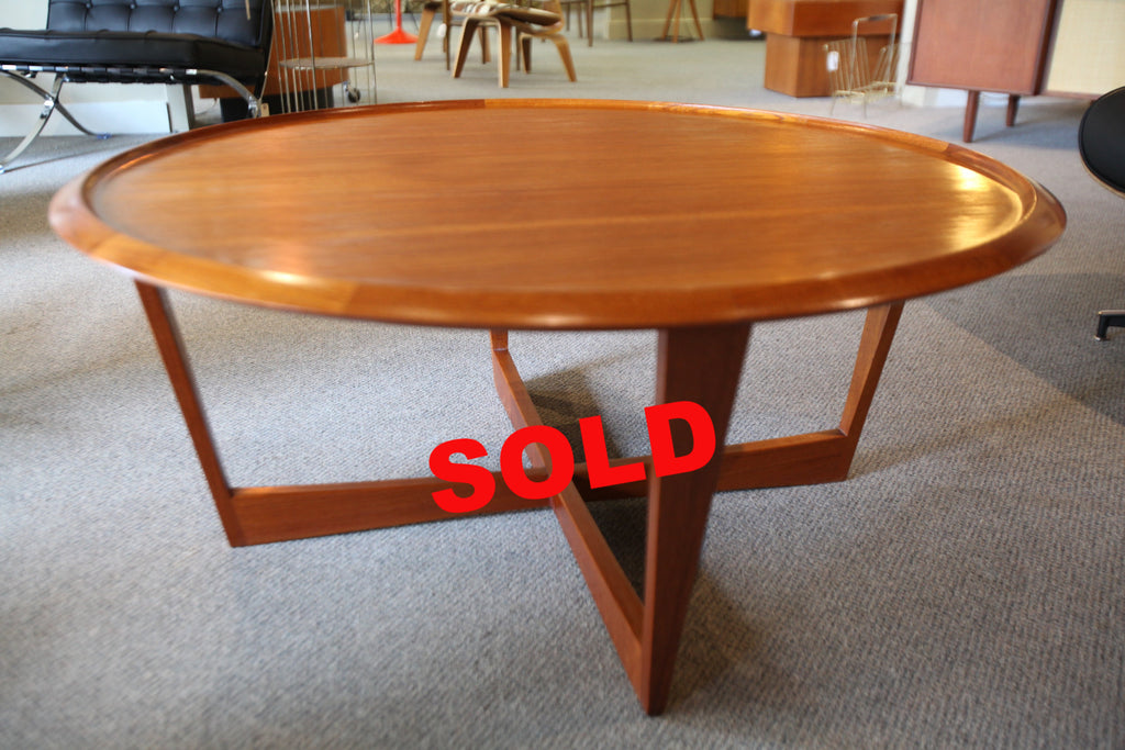 "Round Teak Coffee Table (41""x18"")"