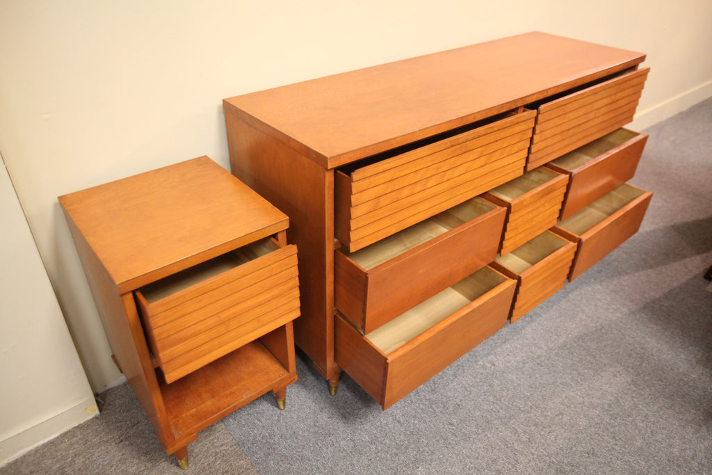 8 Drawer Dresser and Side Table (54x31x17.5) Haddon Hall