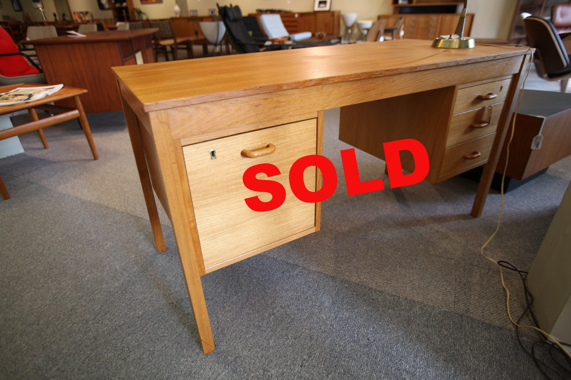 top teak nielsen gunnar standing century danish mid floating tibergaard by desk for free designed