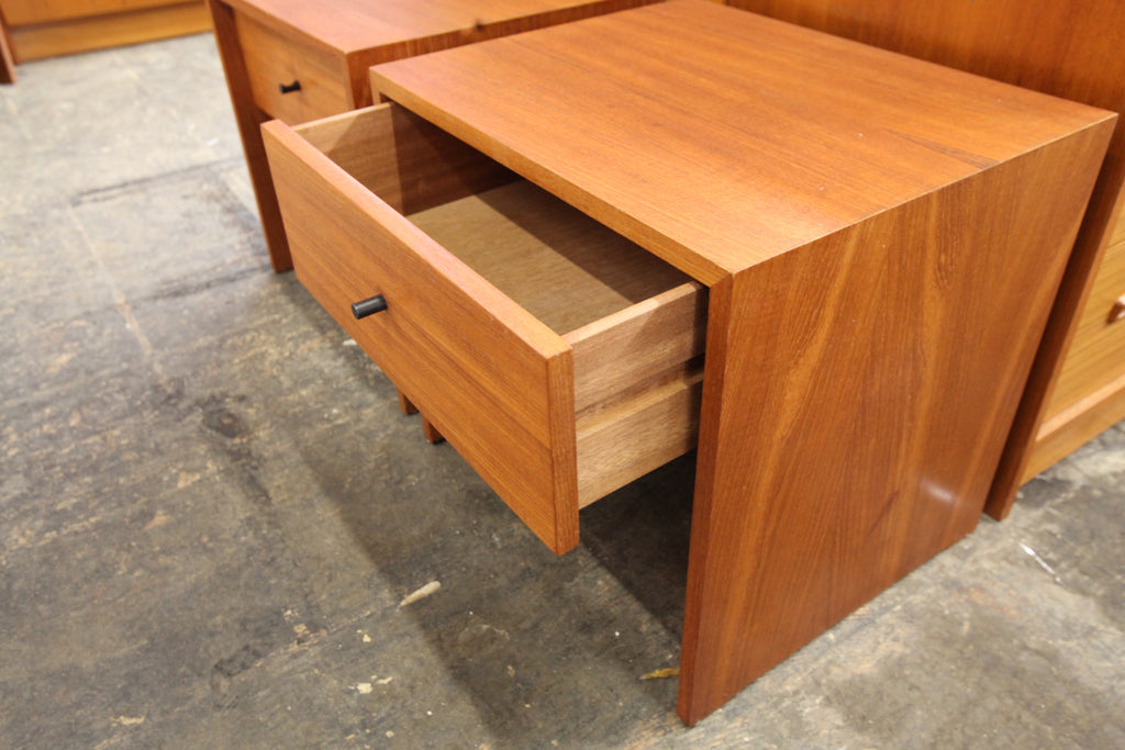 "Pair of Vintage Teak Night Stands by RS Associates Montreal (19.5""x16""x18""H)"