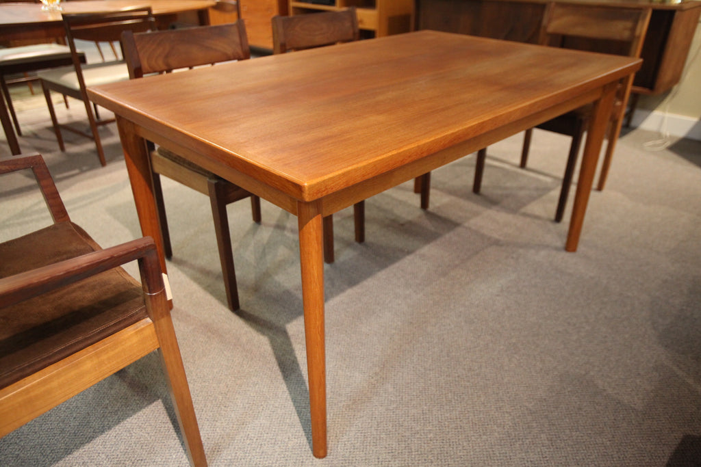 "Danish Teak Extendable Dining Table (57x35) (96"" Extended)"