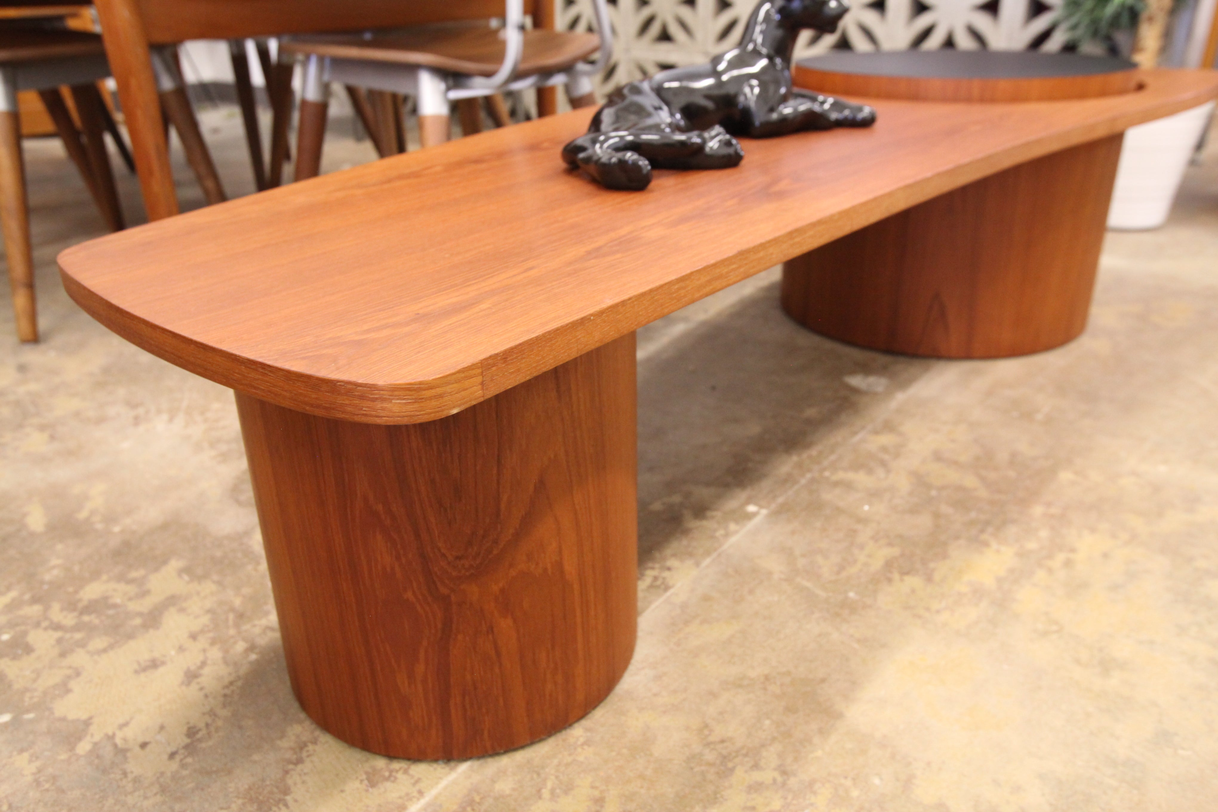 "Vintage RS Associates Montreal ""Martini"" Teak Coffee Table (67""L x 27""W x 15""H)"