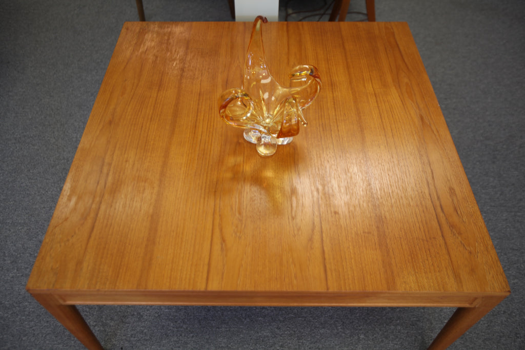 "Danish Square Teak Coffee Table (37.5""x37.5""x19"")"