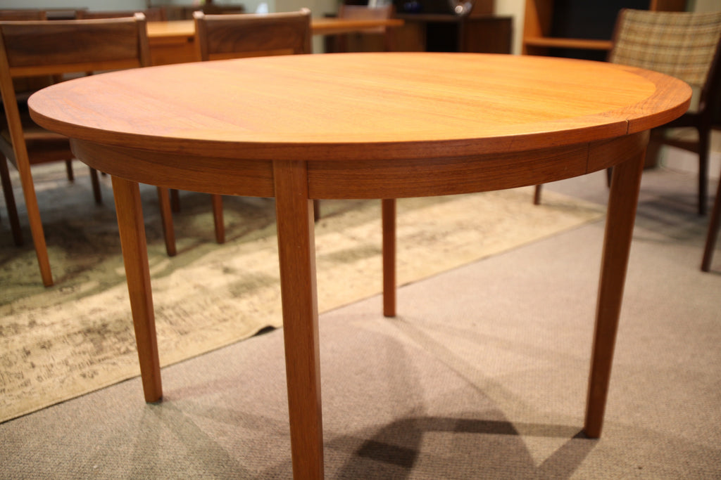 "Round Teak Table with Leaf (43"" across round) or (66.5""x43"") with leaf"
