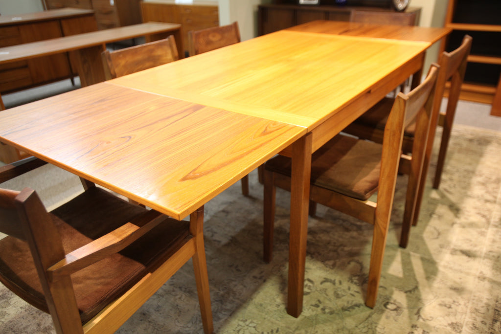 "Danish Teak Slide out Table (92.5""x35.5"") or (53""x35.5"")"