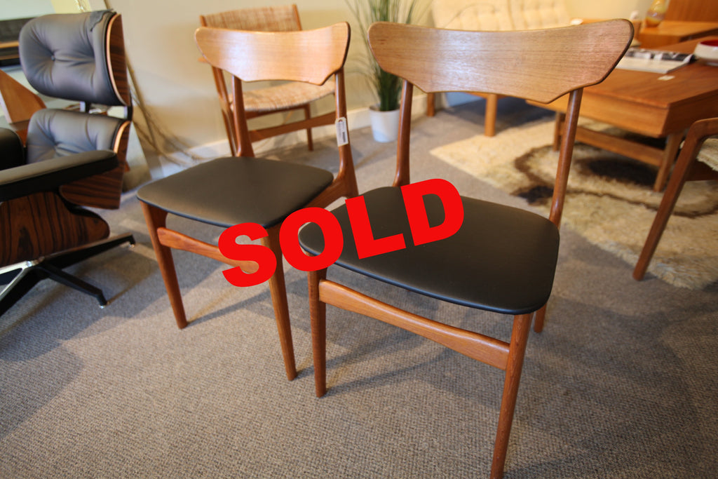 Set of 2 Danish Teak Chairs (Schionning & Elgaard)