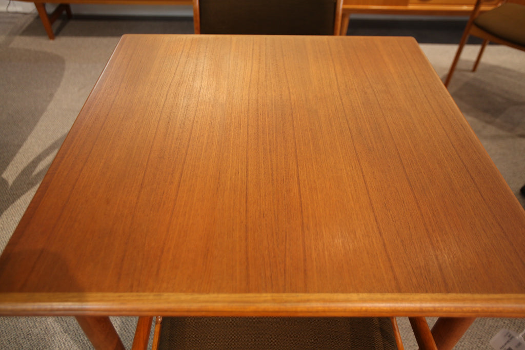 "Small Danish Teak Extension Table (33.5"" x 33.5"") or (33.5"" x 64"")"