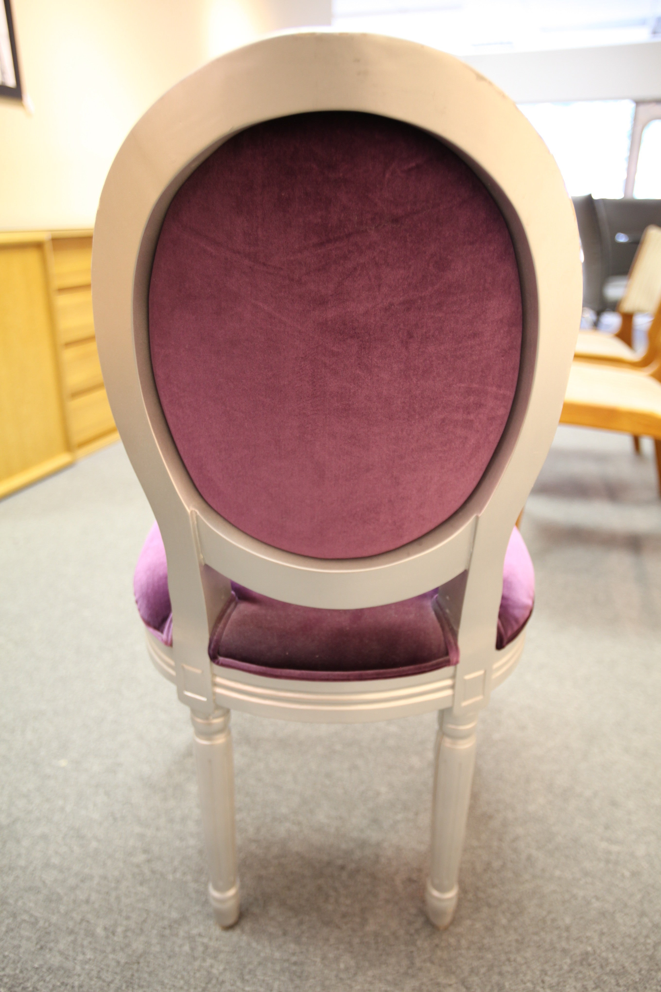 Purple Chintz Chair