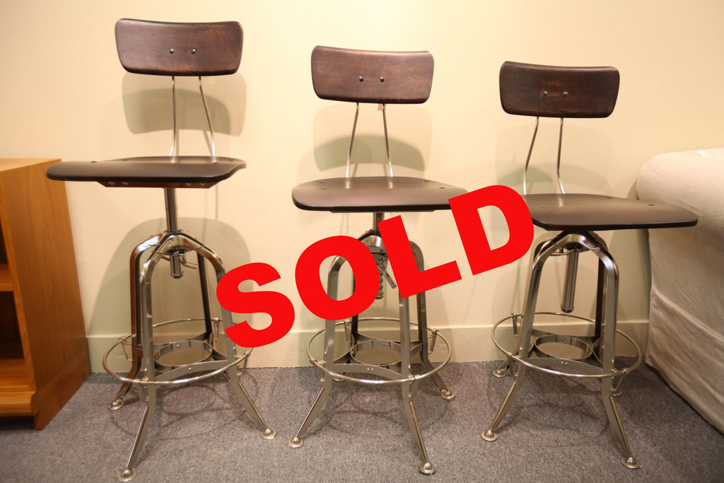"Restoration Hardware Industrial Bar Stool (25""-30"" adjustable height)"