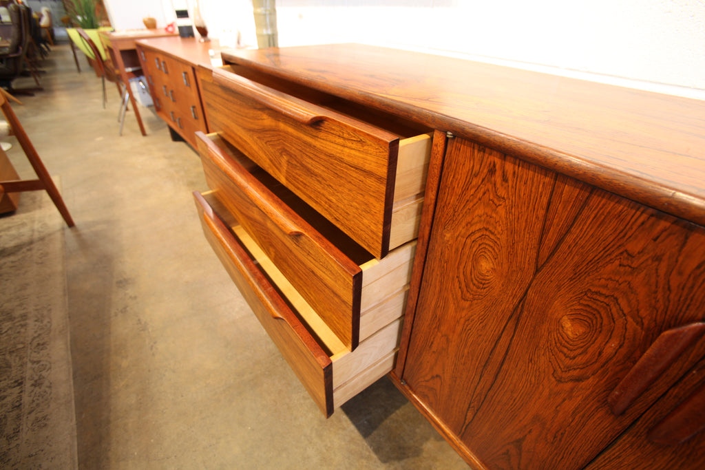 "Beautiful Vintage Rosewood Sideboard / Dresser (84""W x 18""D x 31.75""H)"
