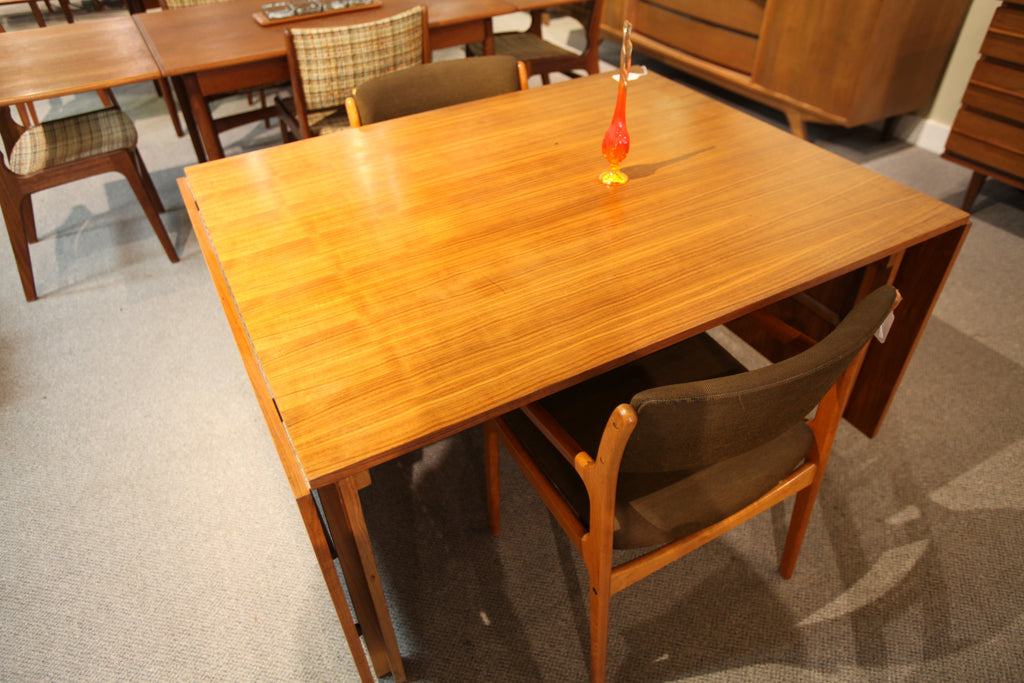 "Teak Table with Drop Leafs Approx 1959 (95.5""x40"") or (51""x40"")"