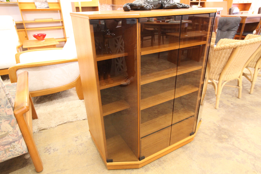 "Vintage Teak Stereo Cabinet w/ Glass Doors (36""W x 20""D x 39.25""H)"
