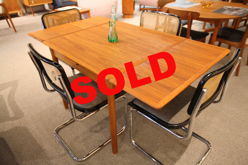 "Small Danish Teak Extension Table (60""x33.5"") or (33.5""x33.5"")"