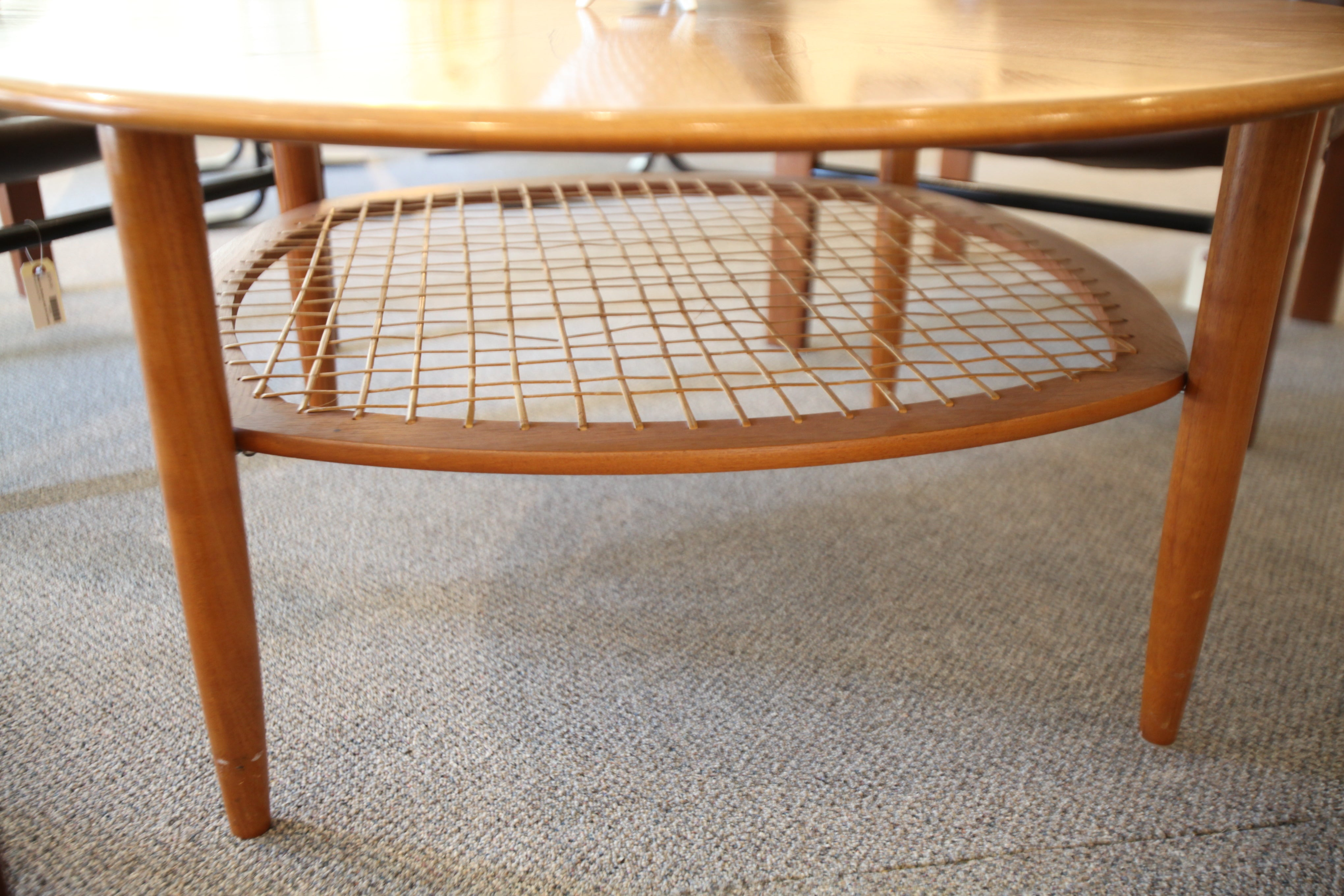 "Round Danish Teak Coffee Table (41.5"" x 19""H)"