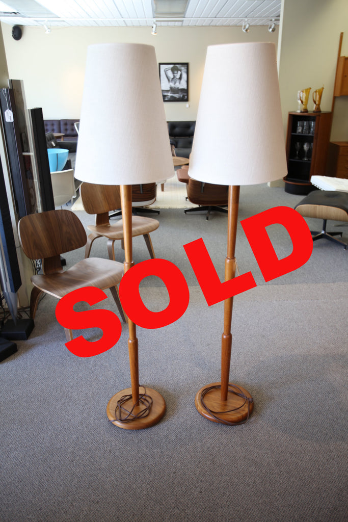Teak trilight Floor Lamp (each)