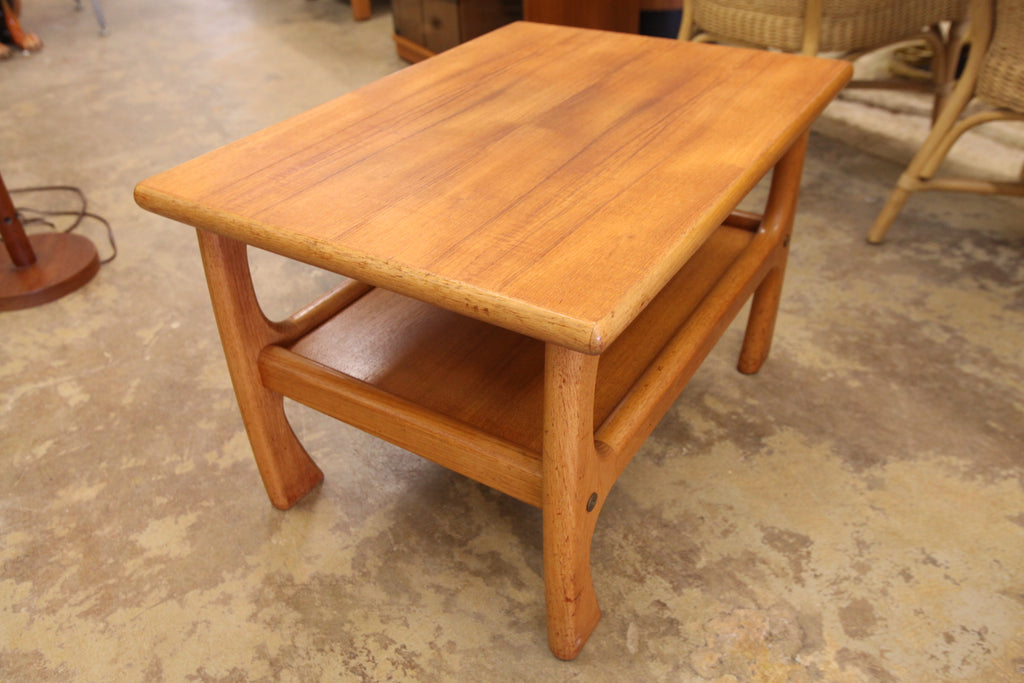 "Vintage Teak End Table (28.75"" x 21"" x 18.5""H)"