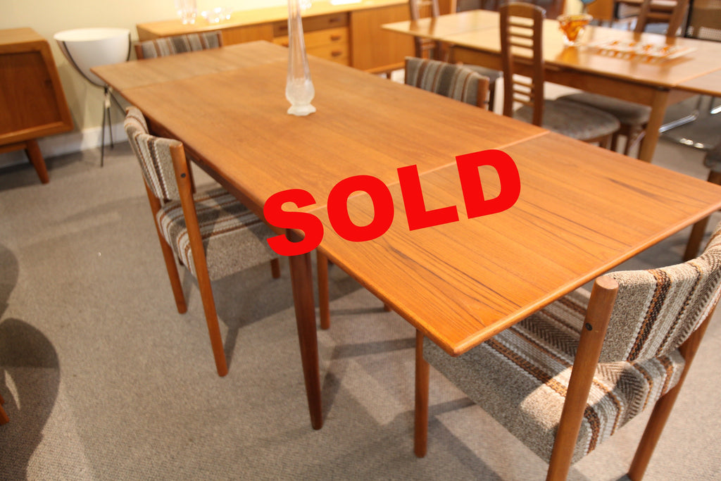 "Danish Teak Extension Table (84""x31.5"") or (47.25""x31.5"")"