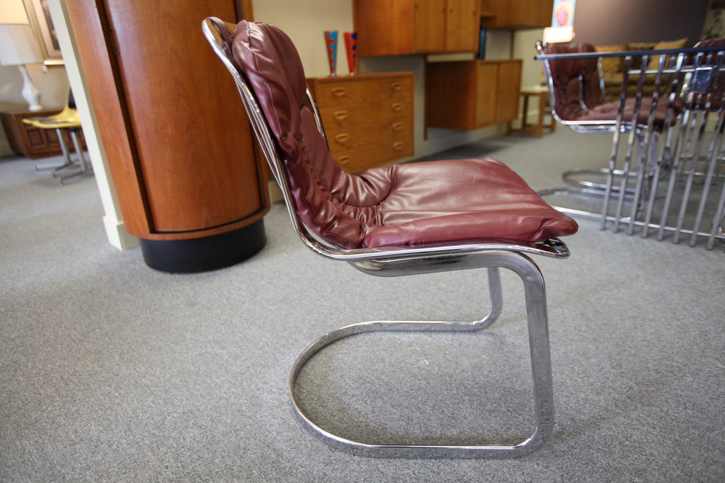 Cidue Chrome Chairs 1970's  (set of 6) made in Italy