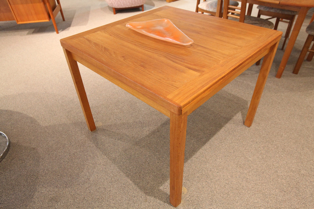 "Square Teak Table with Extensions (63"" x 35.5"") or (35.5"" x 35.5"")"