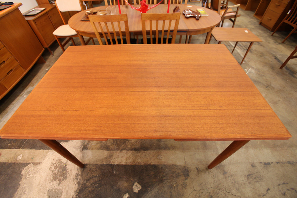 "Vintage Danish Teak Dining Table w/ Pullout Extensions (55"" x 35"") (98"" x 35"")"
