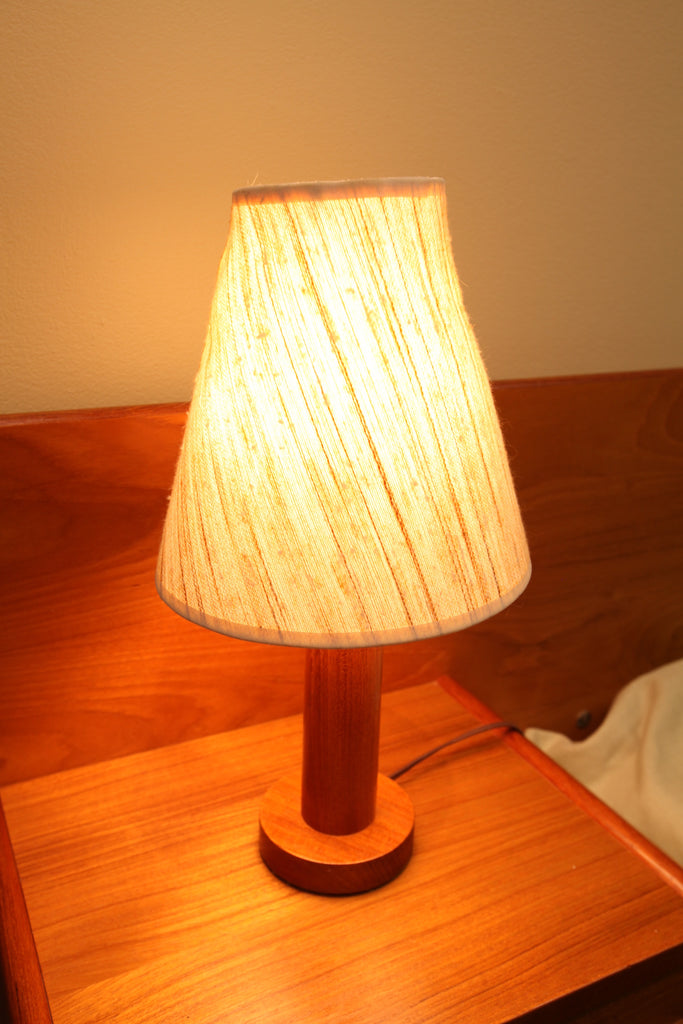 Teak Bedside Lamps (set of 2)