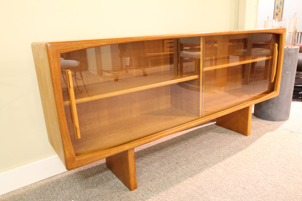 "Scandia Hutch w/glass doors (63""L x 29.5""H x 12.5""D)"