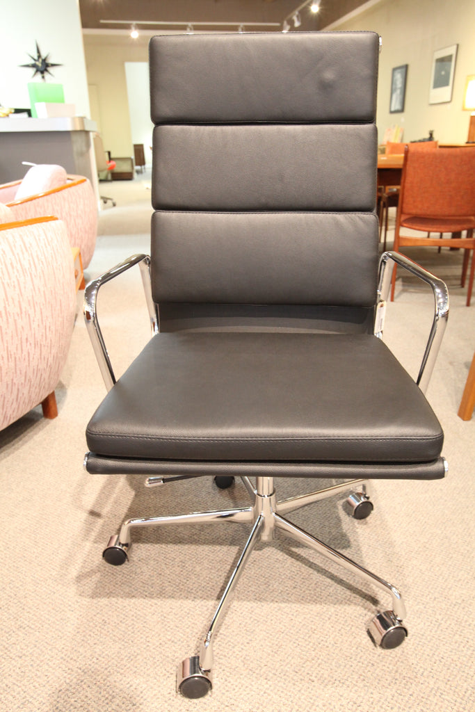 Eames Replica Office Chair (Black Leather)