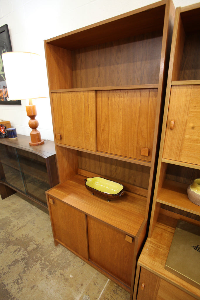 "Vintage Teak Single Wall Unit (31.5""W x 16""D x 68.5""H)"